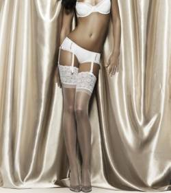 Voodoo Shine Lace Top Stockings from DownUnderWear