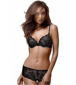 Pleasure State My Fit Lace Plunge Push Up Bra