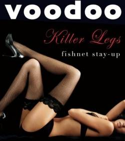 Voodoo Killer Legs Fishnet Stayup