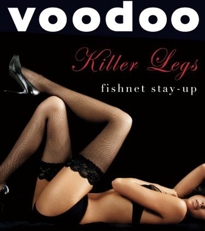 Voodoo Killer Legs Fishnet Stayup from DownUnderWear