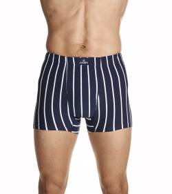 Jockey Man Sports Stripe Trunk Navy White Stripe