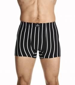 Jockey Man Sports Stripe Trunk Black White Stripe
